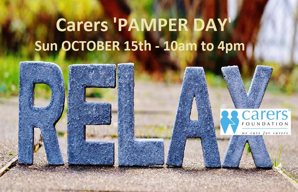 CARERS PAMPER DAY OCTOBER 15th – Click for more information